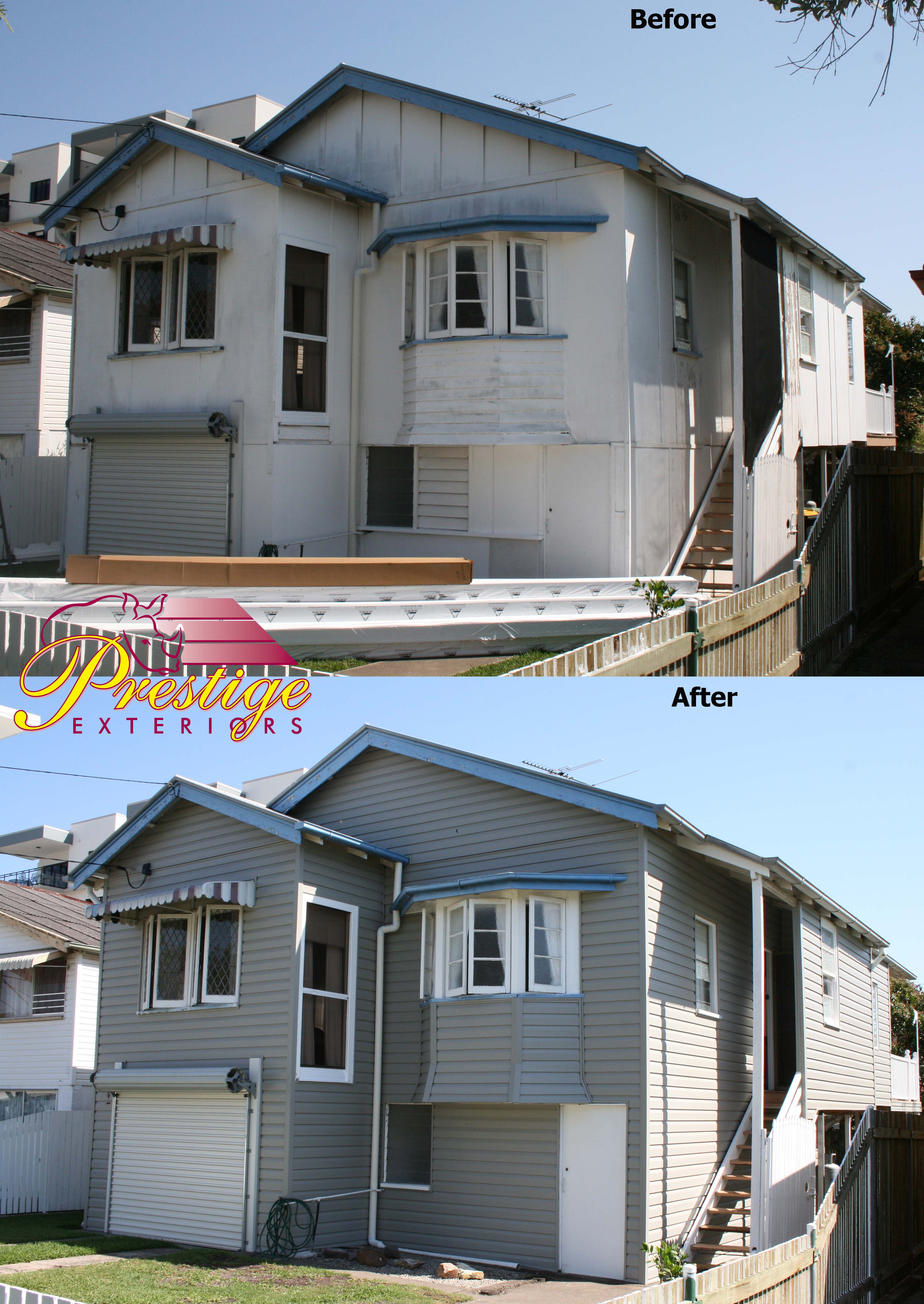 Wooden Cladding Before And After ~ Vinyl cladding supply installation by prestige exteriors